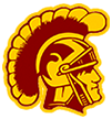 Barren County Middle School logo of trojan