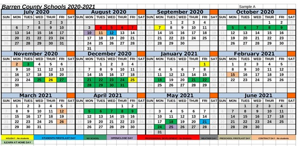 Barren County Schools Proposed 2020 2021 Calendar Survey   Barren